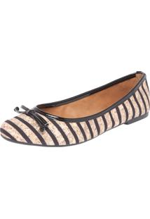 Sapatilha Dafiti Shoes Listras Bege/Preta