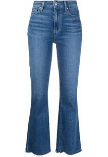 Paige Calça Jeans Flare Cintura Alta - Azul