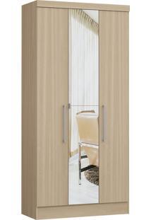 Modulo Com 3 Portas E 2 Gavetas C/ Espelho Infinity 3830A-Castro Móveis - Nogueira