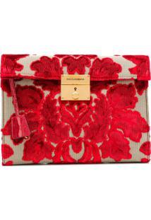 Dolce & Gabbana Clutch Com Brocado - Vermelho