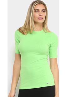 Camiseta Colcci Lisa Feminina - Feminino-Verde Claro