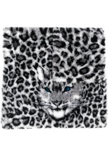 Alberta Ferretti Sobretudo Oversized Animal Print - Preto