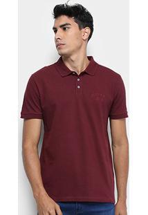 Camisa Polo Calvin Klein Masculina - Masculino-Bordô