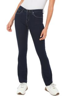 ... Calça Sarja Calvin Klein Jeans Reta Pespontos Azul b7faac6371a