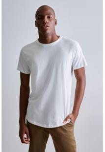Camiseta Long Fraldada Capim Reserva Masculina - Masculino-Branco