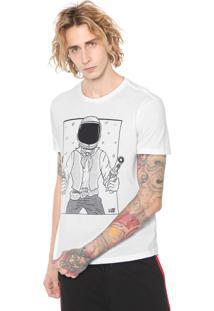 Camiseta Ellus 2Nd Floor Space Comboy Branca