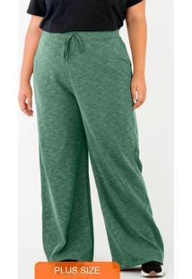 Calça Wide Leg Comfort Verde