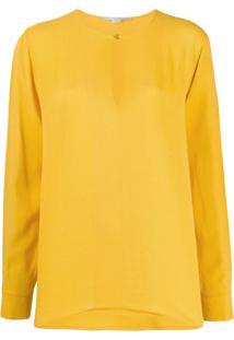Stella Mccartney Blusa Com Fenda Nas Mangas E Decote - Amarelo