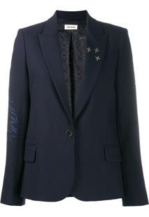 Zadig&Voltaire Blazer Com Abotoamento Simples - Azul