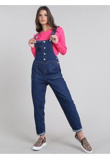 e489d723a8 R$ 149,99. CEA Macacão Jeans Feminino Com Bolsos ...