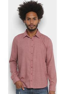 Camisa Cavalera Com Logo Masculina - Masculino-Vermelho