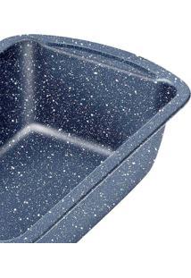 Forma Antiaderente Assadeira Teflon Quadrada Rasa - Azul/Preto - Dafiti