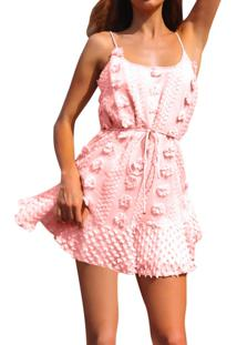 Vestido Pompom Curto Verão