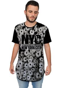 Camiseta Longline Ramavi New York Preta