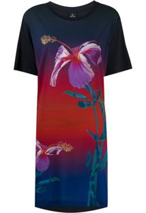 Ps Paul Smith Vestido Floral - Azul