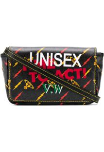 Vivienne Westwood Bolsa Transversal Unisex Time To Act - Preto