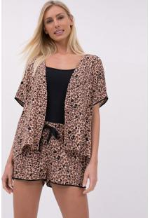 Short Doll De Alcinha Animal Print