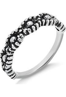 Anel Com Design De Bolinhas Em Prata Envelhecida - 1140000000883 14