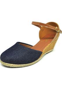 Sandalia Salto Anabela Jeans Dani K