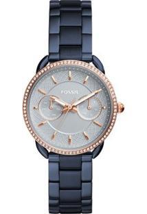 Relógio Fossil Feminino Tailor - Es4259/4Kn Es4259/4Kn - Feminino-Azul