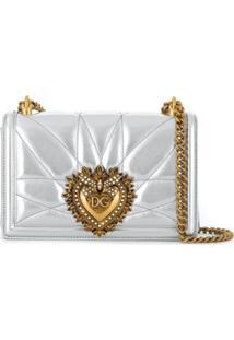 Dolce & Gabbana Bolsa Tiracolo Devotion - Prateado