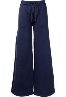 Cynthia Rowley Calça Pantalona Com Ajuste No Cós - Preto