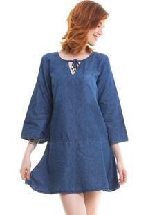 Vestido Maria João Blue Jeans