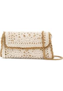 Stella Mccartney Falabella Crochet Shoulder Bag - Branco