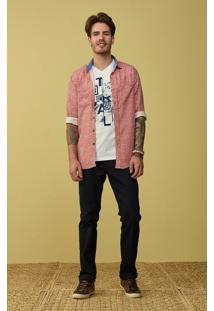 Camisa Slim Estampa Bicolor