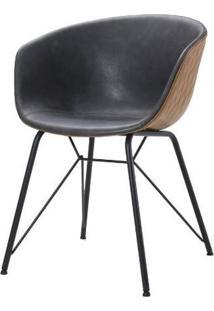 Cadeira Rey Courino Cinza Base Preto 80Cm - 62840 - Sun House