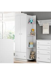 Guarda-Roupa De Bebê 2 Portas 1 Gaveta Confete Plus Flex Brc/Colorido - Multimóveis