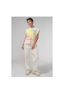 Camiseta Colcci Muscle Mickey Bege