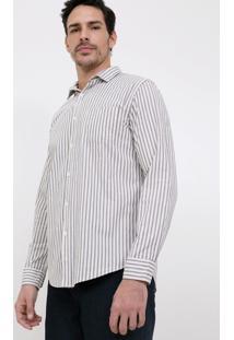 Camisa Slim Com Bolso Em Tricoline