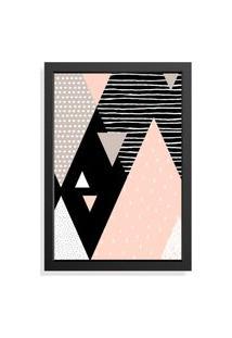 Quadro Decorativo Com Moldura Geometric Preto
