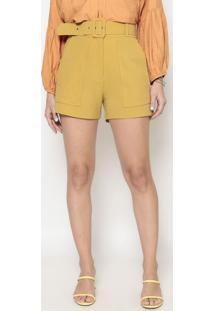 Short Com Cinto- Amarelo Escuro- Aboutabout