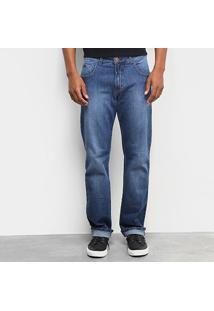 Calça Jeans Reta Forum History Estonada Masculina - Masculino-Azul