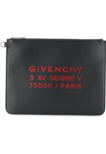 Givenchy Clutch Com Estampa De Logo - Preto