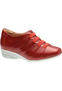 Sapato Anabela Doctor Shoes 3150 Vermelho