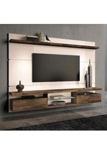 Painel Para Tv 60 Polegadas Livin Off White E Deck 220 Cm
