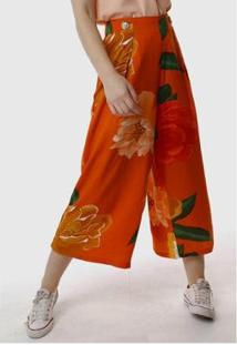 Calça Sob Pantacourt Estampada Floral Feminina - Feminino