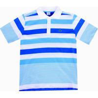Camisa Pau A Pique Polo Listrada - Masculino-Azul 7e98282e40eb5