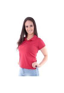 Camisa Polo Cp0724 Slim Traymon Vermelho