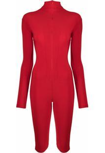 Atu Body Couture Macacão Biker - Vermelho