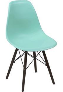 Cadeira Eames Dkr- Verde Água & Madeira Preta- 80,5Xor Design