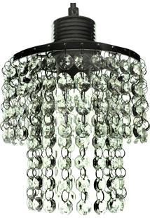 Lustre Pendente Redondo Diamante Iluminação 1080/1 Transparente Bivolt