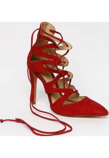 Sapato Tradicional Acamurã§Ado Com Recortes- Vermelhoschutz