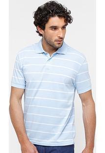 Camisa Polo Blue Bay Malha Fio Tinto Listrada Masculina - Masculino
