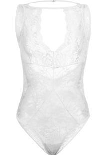 Body Amaro High Neck Decote Vazado Branco - Branco - Feminino - Dafiti