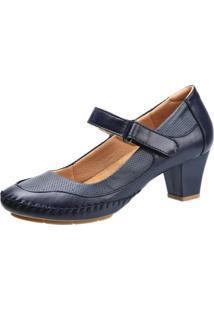 Sapato Salto Doctor Shoes Azul Marinho