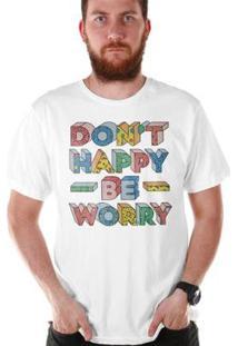 Camiseta Bandup! Bdp Clothing Don´T Happy Masculina - Masculino-Branco